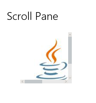 Scroll Pane JMetro light theme. Java, JavaFX theme inspired by Microsoft Fluent Design System.