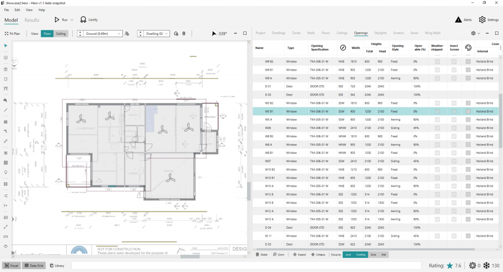Screenshot of CAD application